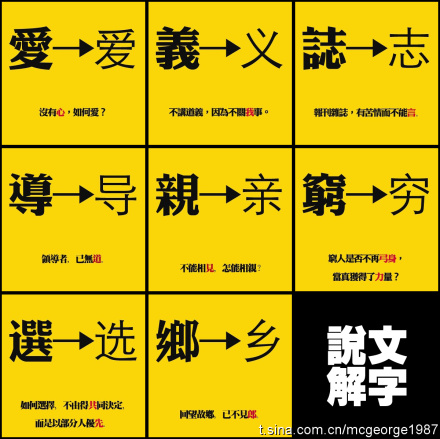 Jianhuazi vs Fantizi (Hanzi yang disederhanakan vs Hanzi tradisional)
